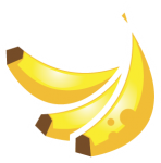 sticker icons fruit-17 - Banana