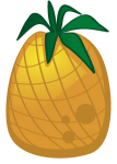 sticker icons fruit-12 - Pineapple