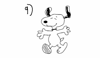 How to draw snoopy! ★★★★★