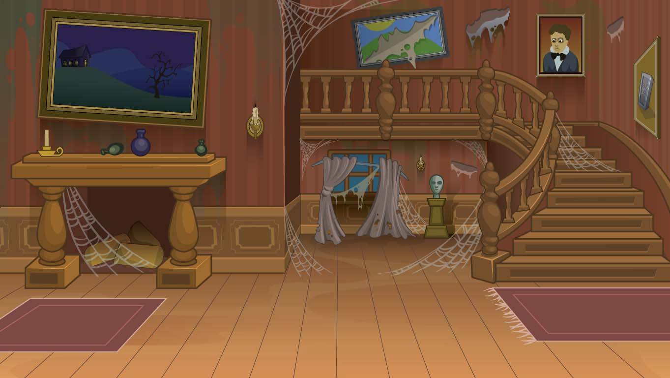 background scene - spooky stage