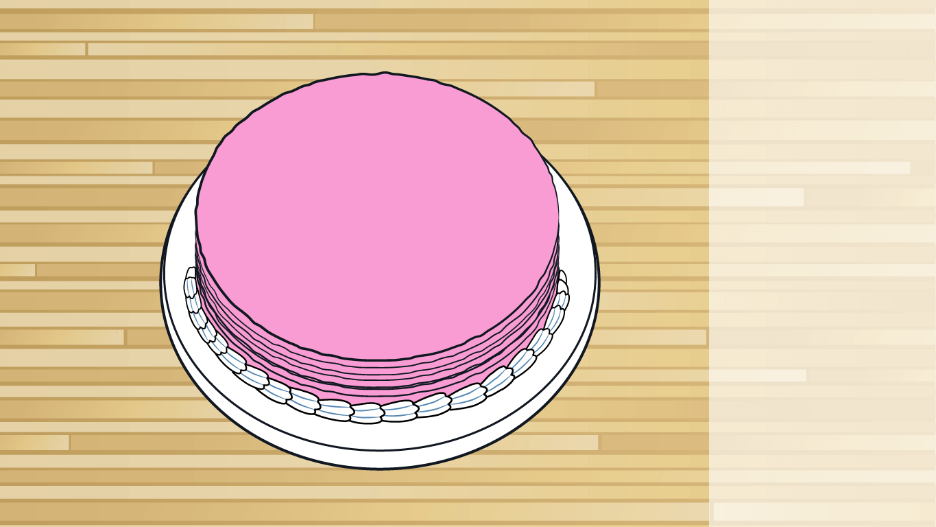 background scene - strawberry cake
