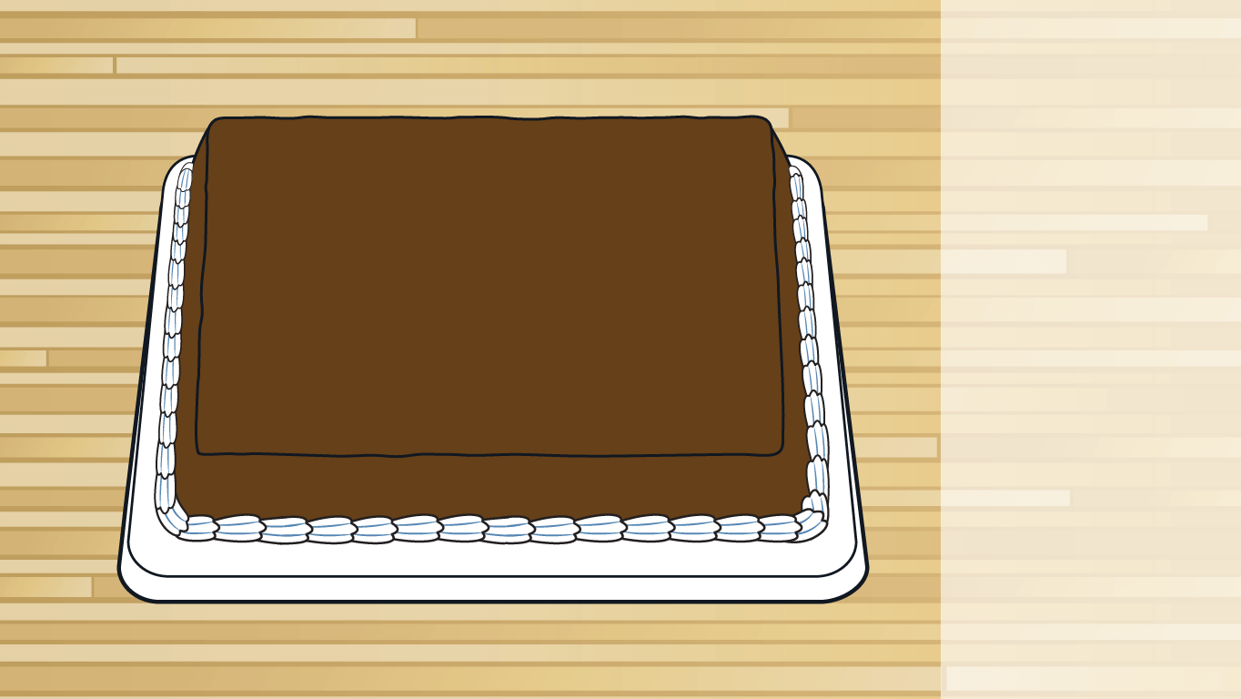 background scene - chocolate cake