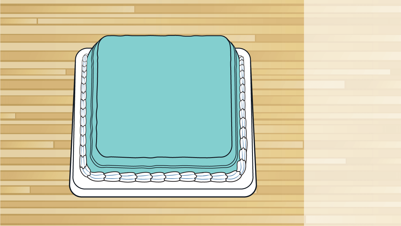 background scene - mint cake