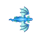 Dragon - Blue_Flying02