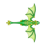 Dragon - Green_Flying06