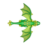Dragon - Green_Flying10