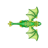 Dragon - Green_Flying03