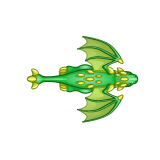 Dragon - Green_Flying01