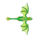 Dragon - Green_Flying07