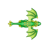 Dragon - Green_Flying02