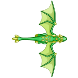 Dragon - Green_Flying08