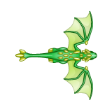 Dragon - Green_Flying05