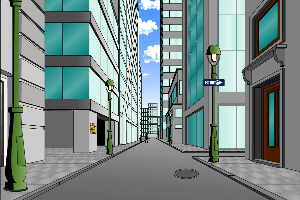background scene - downtown