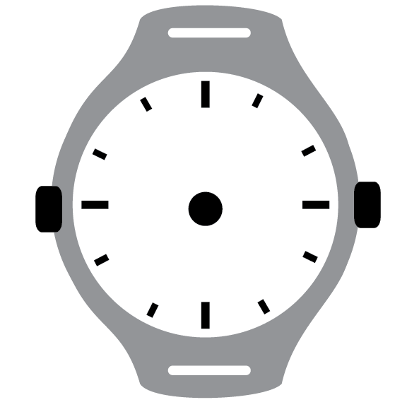 Clock Face - Grey Wristwatch