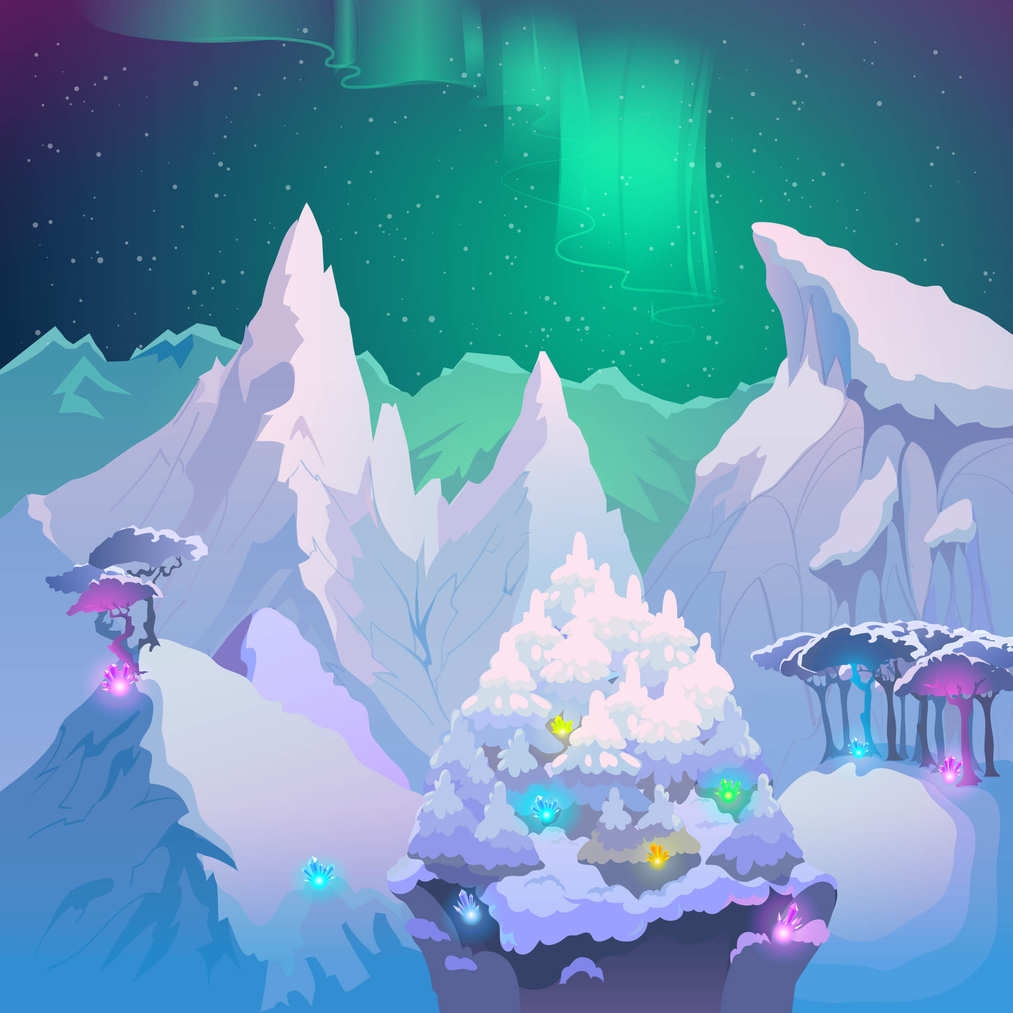 background scene - Ice Tundra Background