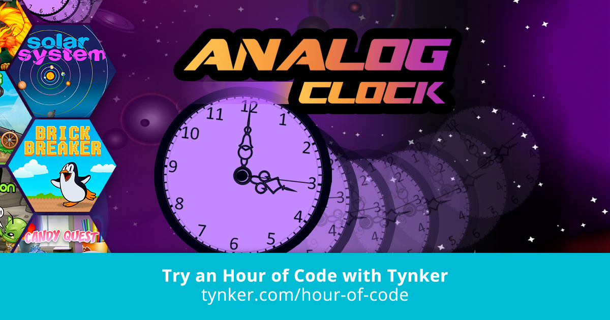 STEM | Analog Clock | Hour of Code | Tynker
