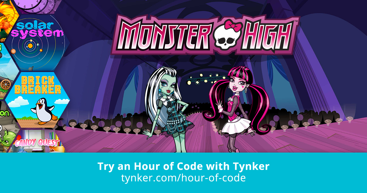 monster high hour of code tynker