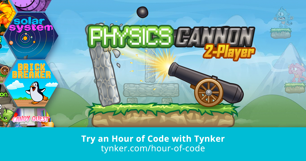 Physics Cannon Game | Hour of Code | Tynker