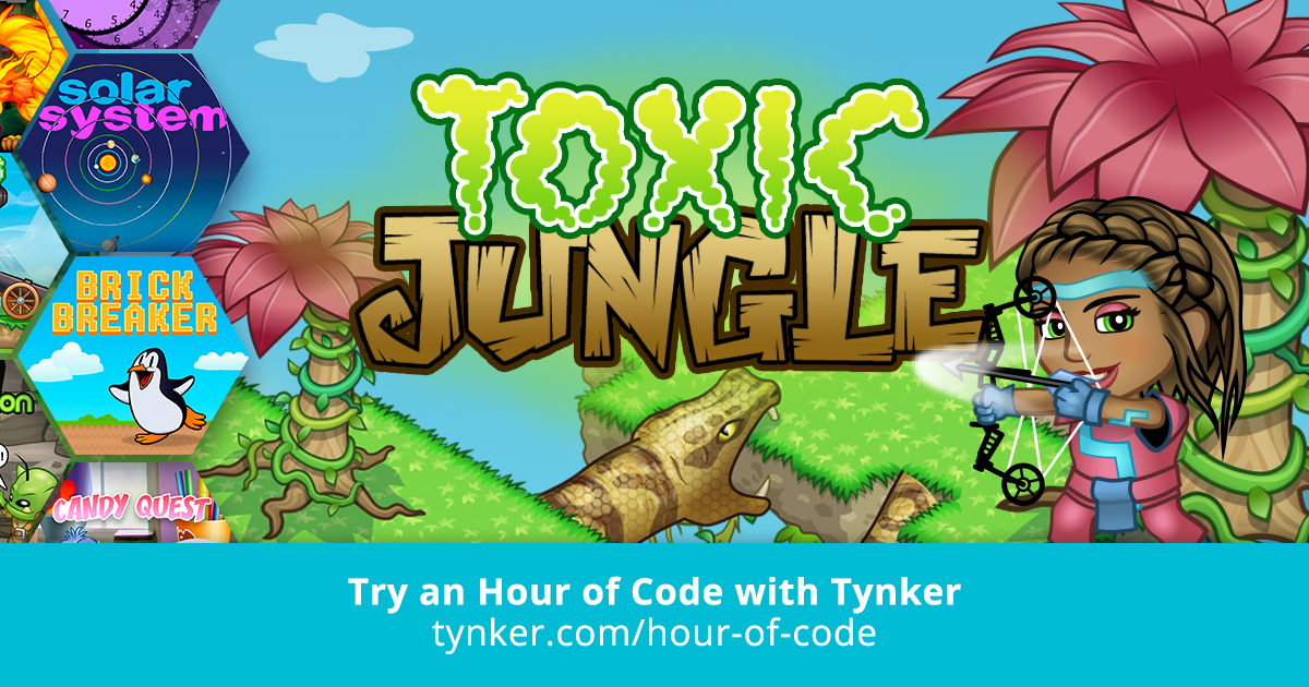 Python   Toxic Jungle   Hour of Code   Tynker
