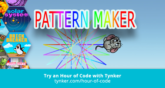 Pattern Maker Hour Of Code Tynker Inspiration Pattern Code