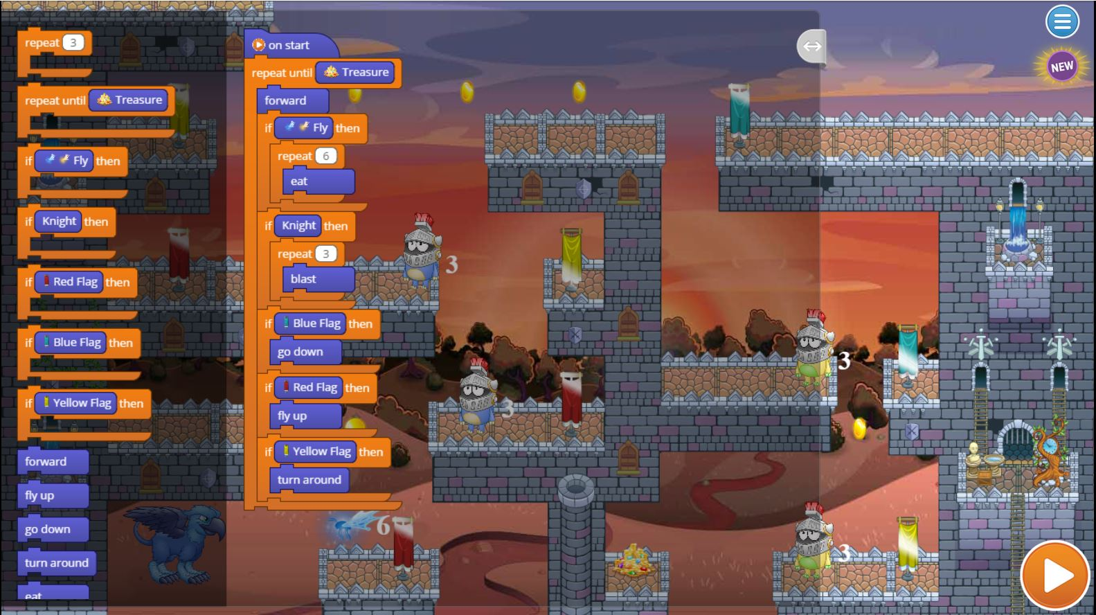Dragon Dash Puzzle 9 Solution | Coding for Kids | Tynker