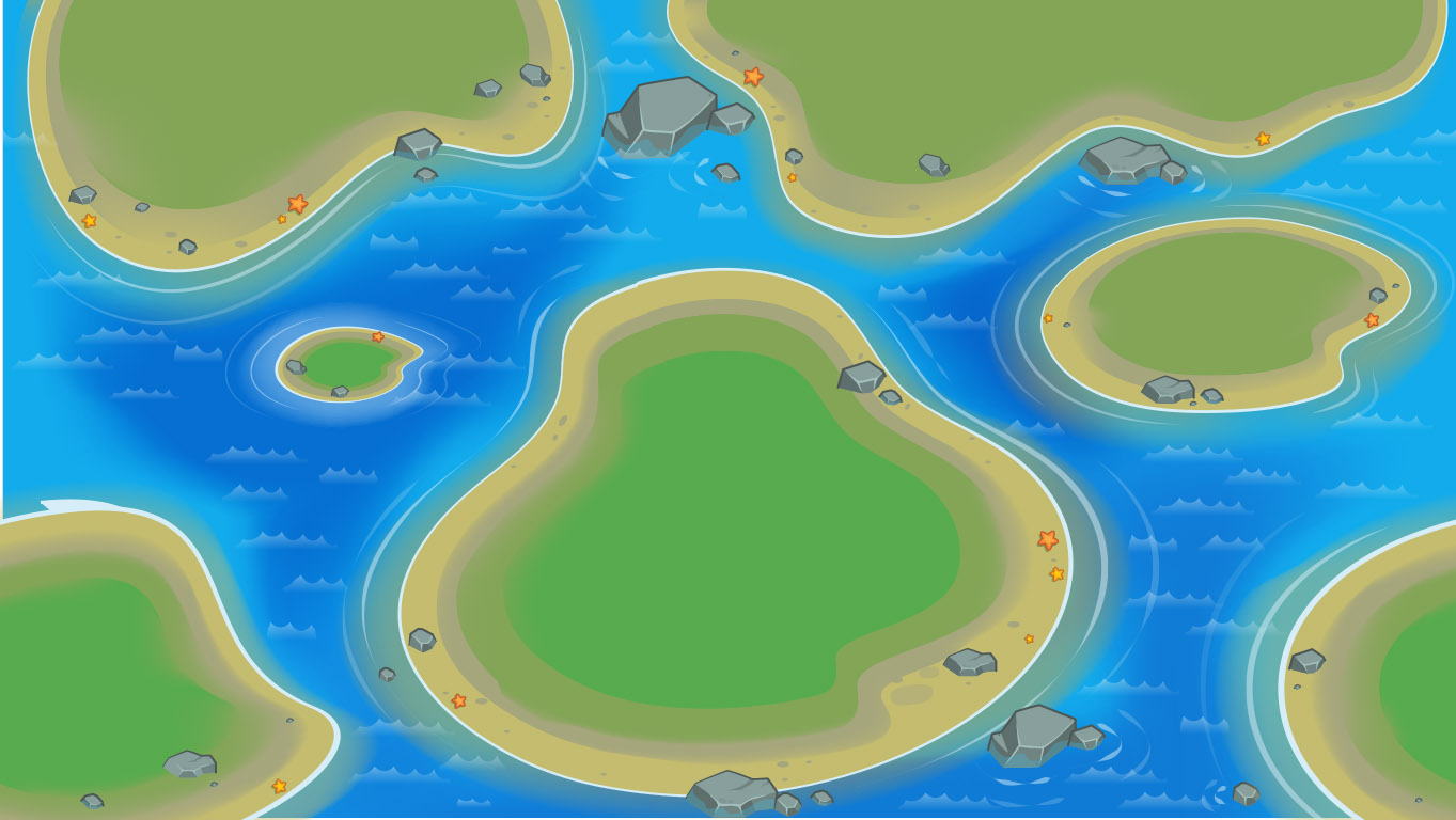 background scene - islands open