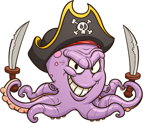 aquarium fish - pirate octopus