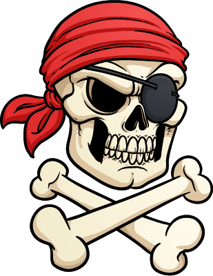 laser red - pirate skull 2