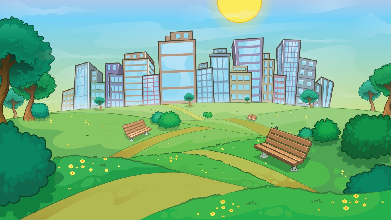 background scene - city landscape