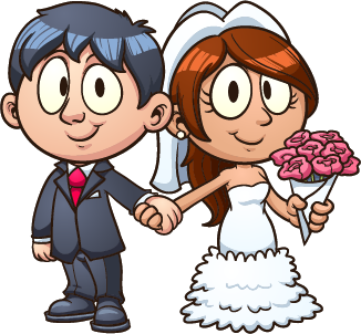 drawing1 - bride and groom
