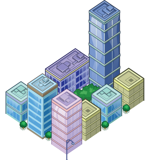 Blue Building 1 - City Block 2