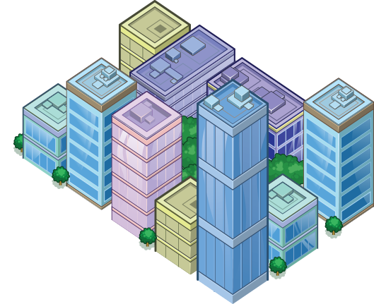 Blue Building 1 - City Block 3
