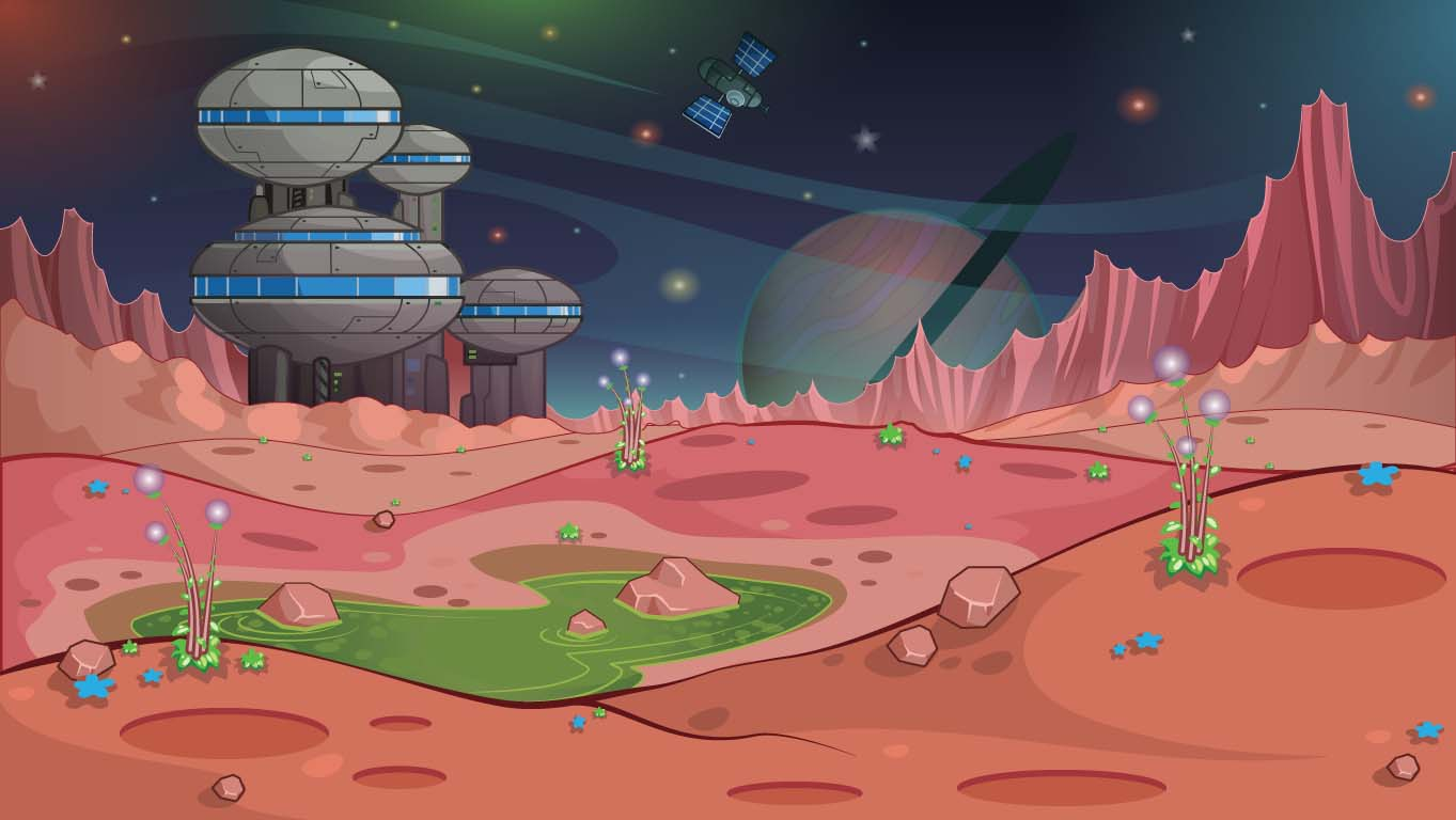 background scene - alien landscape