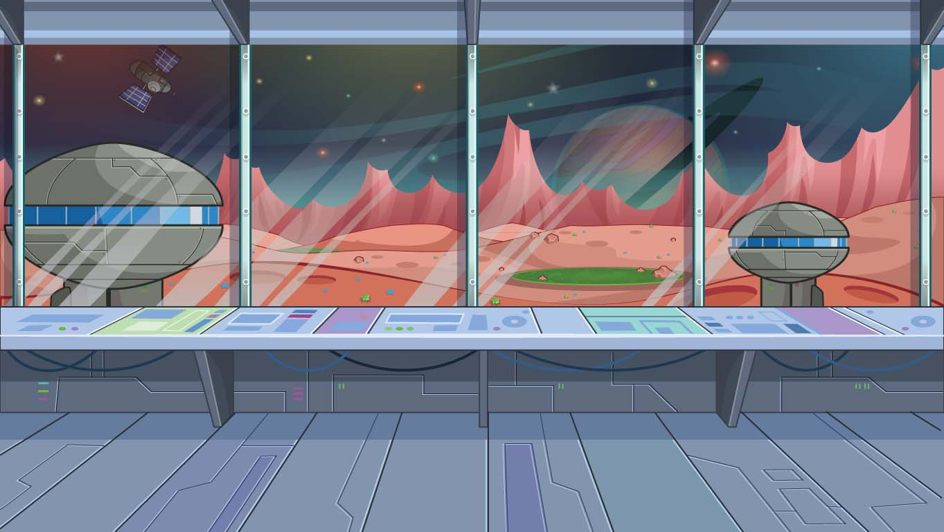 background scene - Alien Building
