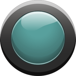 Cyan Button On2 - Cyan Button Off