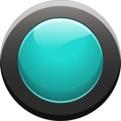 Play Button - Cyan Button On