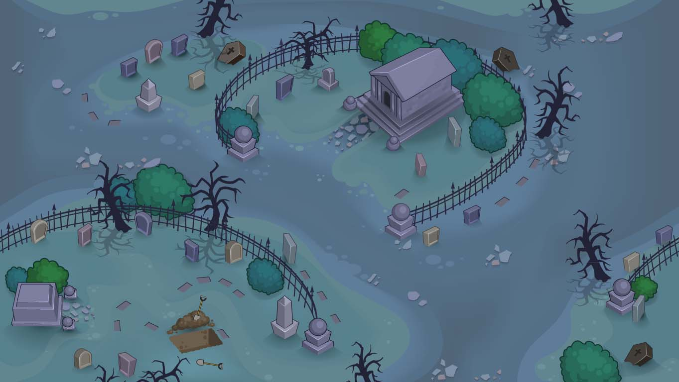 background scene - Graveyard Overhead