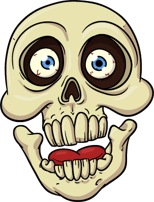 Shocked Skeleton - Goofy Skull