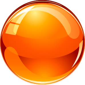 shrink ball - orange ball