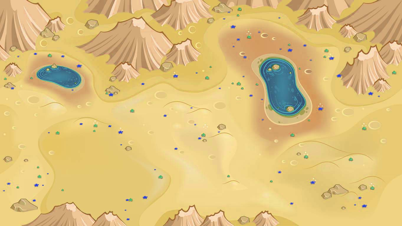 background scene - desert overhead