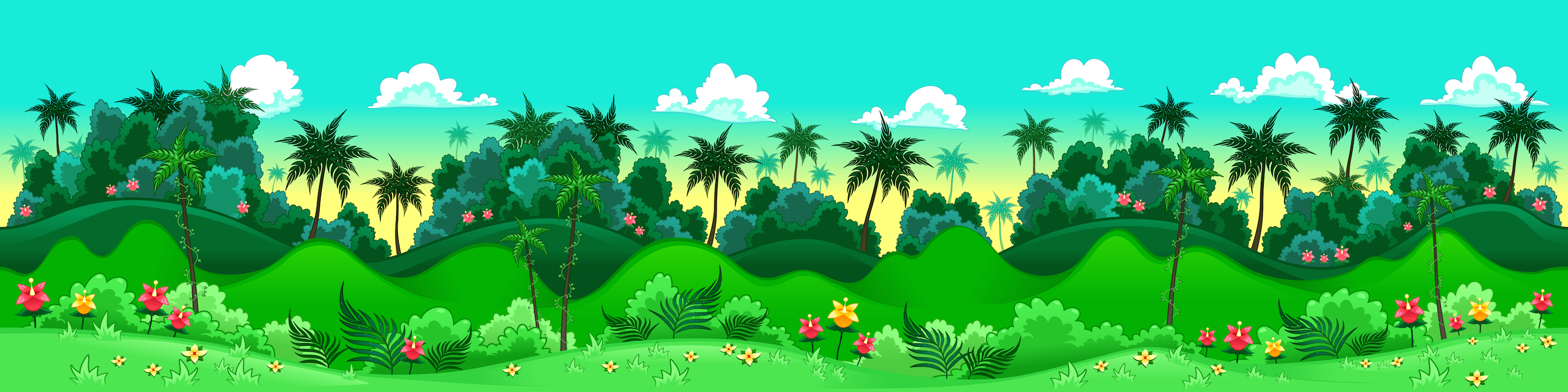 background scene - seamless jungle