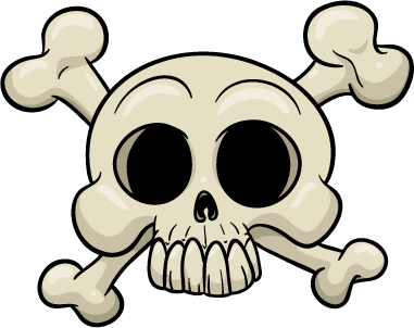 Skull - treasure map skull bones
