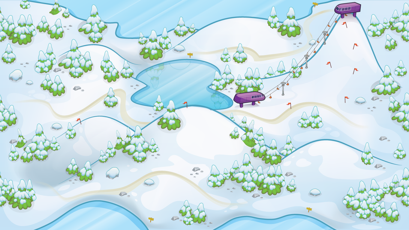background scene - Snowy Overhead