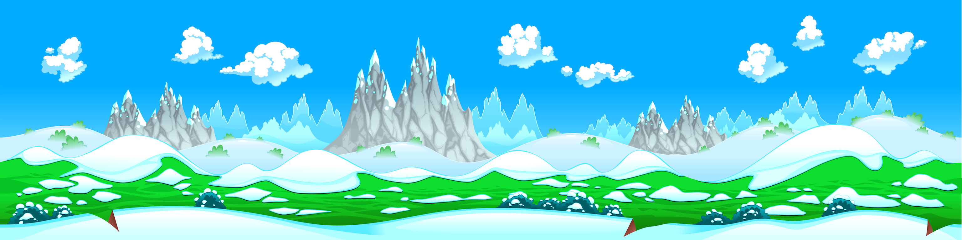 background scene - seamless winter