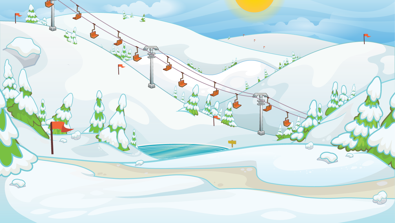 background scene - winter landscape