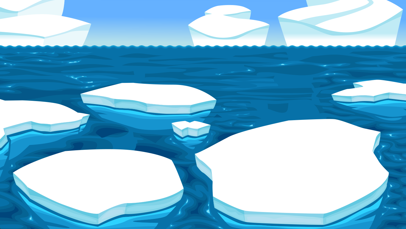 background scene - Iceberg Ocean