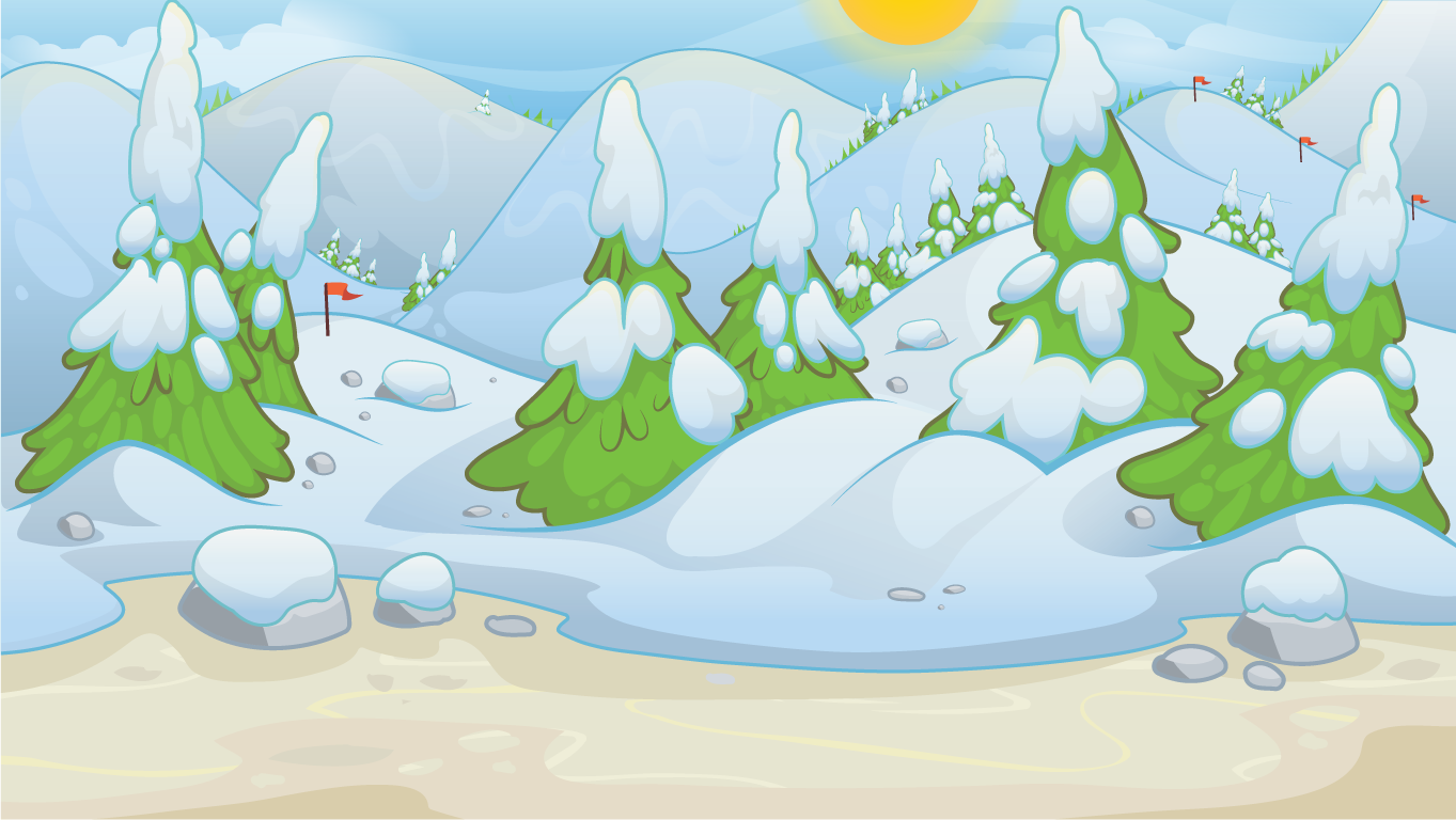 background scene - winter landscape 2