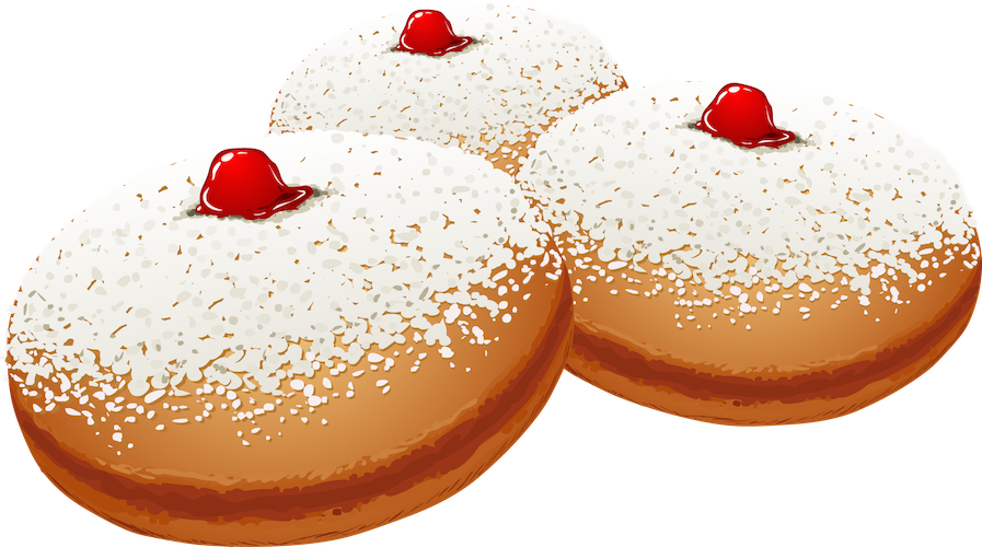 decorations - sufganiyot donut