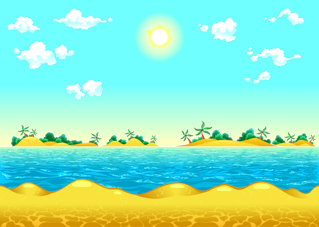 background scene - seamless beach
