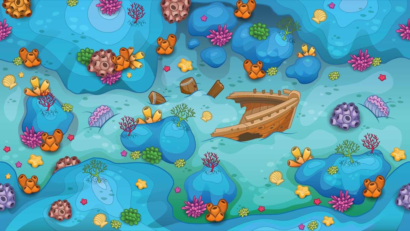 background scene - underwater overhead